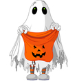 child in ghost costume vector image