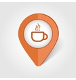 Cap of Tea or Coffee map pin icon vector image
