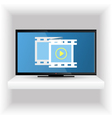 Television set on the shelf vector image