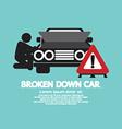 Broken Down Car Symbol vector image