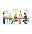 business discussion - modern cartoon vector image