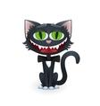 Cartoon Black Cat with Bow Tie vector image