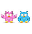 cartoon funny colored owls vector image