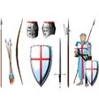 crusader set vector image
