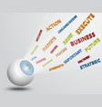 eyeball with vision words concept vector image