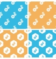 Gears pattern set colored vector image