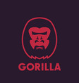 gorilla head logo element vector image