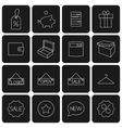 Icons purchase vector image