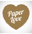paper love vector image