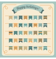 Set of bunting and garland vector image