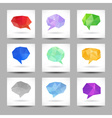 Set of speech bubbles with abstract triangles vector image