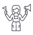 tour guide line icon sign on vector image
