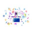 web design idea concept creative process software vector image