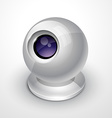 white webcam vector image