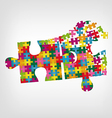Puzzle in puzzle vector image vector image