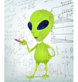 Cartoon Alien Maths vector image vector image
