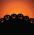 halloween pumpkin background 0809 vector image