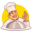 chef with okay hand sign vector image vector image