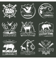 Hunting Club Emblem Set vector image