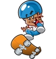 Ethnic Skateboard Boy vector image vector image
