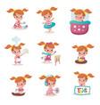 child activity vector image