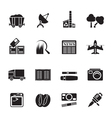 Silhouette Business and industry icons vector image vector image