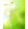 Green bokeh background vector image
