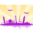 Travel background vector image