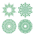 Ornamental ethnicity green pattern vector image vector image