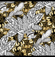antique golden repeatable sketch damask seamless vector image