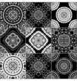 Black and white geometric tiles vector image