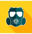 Gas mask flat icon vector image