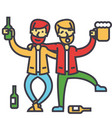 male alcoholism drunk people drunken party men vector image