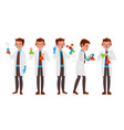 scientist character friendly funny vector image