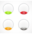 Set of colorful plastic buttons vector image