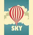 sky vintage poster vector image