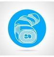 Sushi rolls round icon vector image