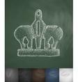 crown icon Hand drawn vector image