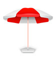 Red striped market outdoor umbrella vector image
