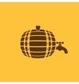 The Barrel icon Cask and keg beer Barrel symbol vector image