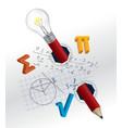 Playful mathematics concept vector image
