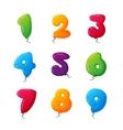 Balloon numbers set vector image