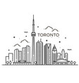 linear banner of toronto line art vector image