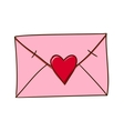 Love letter isolated on white vector image vector image