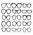 glasses icons Icon Set Sunglasses vector image