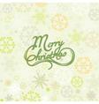 Merry Christmas lettering over snowflakes vector image vector image