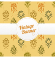 vintage banner with flowers vector image