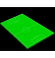 layout of a football field vector image vector image