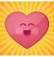 funny cartoon heart happy valentines day vector image