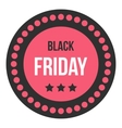 Black Friday sale sticker icon flat style vector image